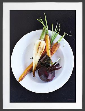 Plakat af Rodfrugter der måler 50x70 cm