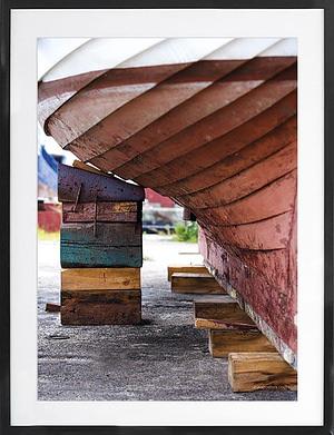 Skib på Bedding 50x70 cm