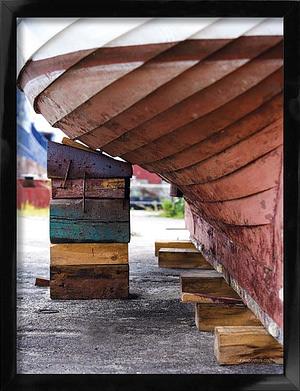 Skib på Bedding plakat 30x40 cm i sort træramme