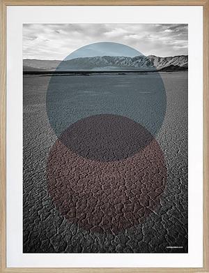 naturplakat med grafisk design Desert 50x70