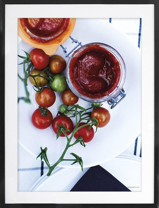 Fotokunst plakat Ketchup 50x70 cm