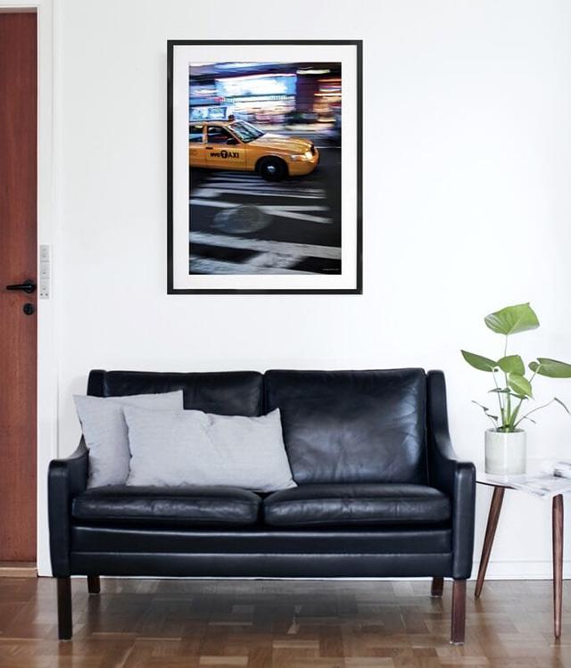 NY Cab 50x70 cm fotokunst plakat