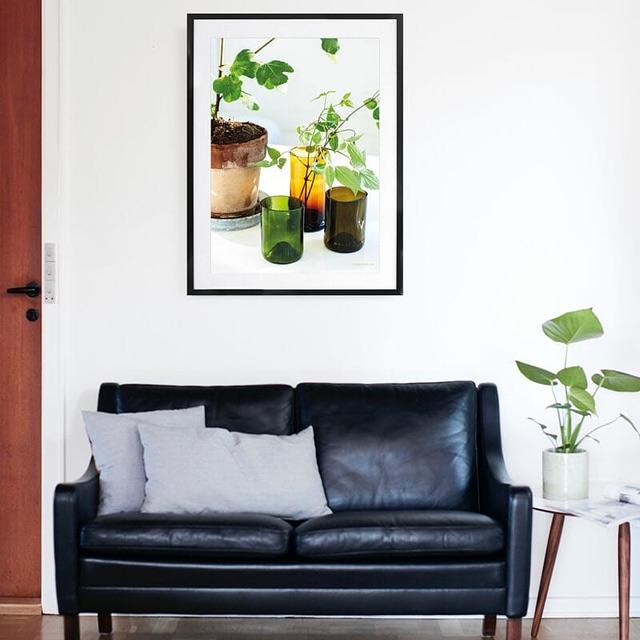 Naturplakat med potteplanter fotokunst
