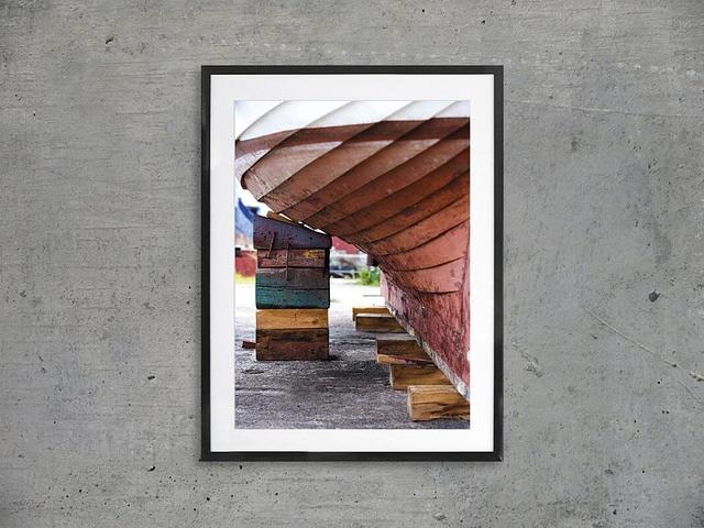 Sort mat 60x80 cm massiv træramme med plakat