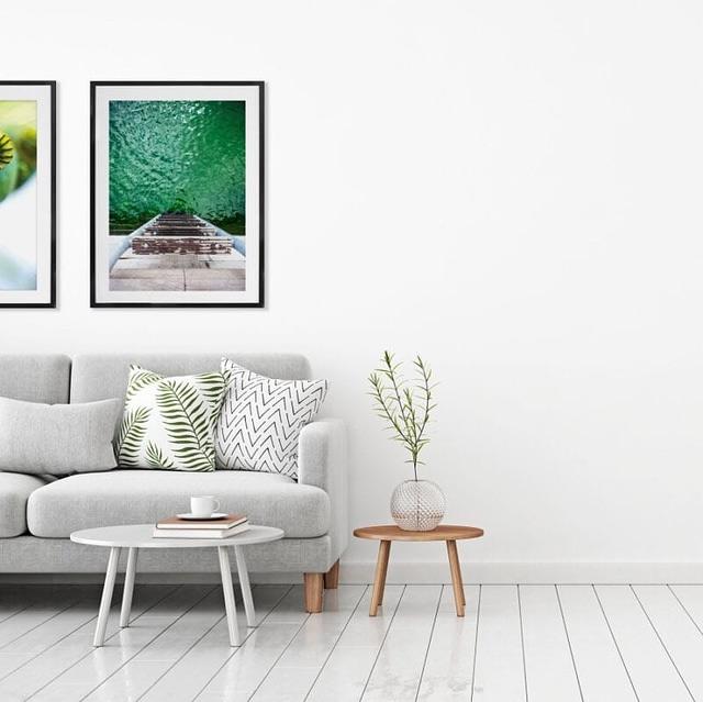 Opsætning af fotoplakaten Havnebad 30x40 cm