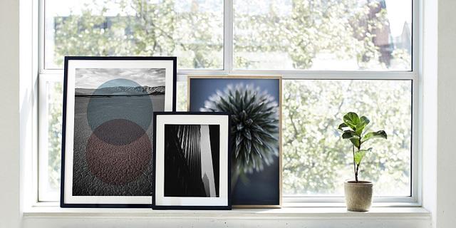 Empire 50x70 cm er unik foto kunst i sort hvid